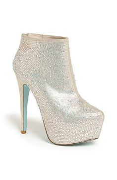 Betsey Johnson 'Bride' Bootie available at #Nordstrom  I would've totally done these if they were around when i got married