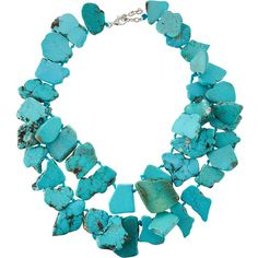 Panacea Turquoise Statement Necklace ($61) ❤ liked on Polyvore featuring jewelry, necklaces, accessories, turquoise, turquoise blue statement necklace, lobster clasp necklace, turquoise jewellery, silver tone necklace and turquoise jewelry