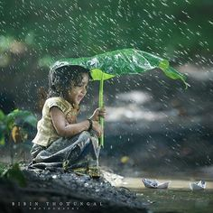 """""""Simplicity in life opens the gates for happiness, joy, abundance & freedom. Village Photography, Cute Kids Photography, Rain Photography, Indian Photography, Cute Kids Pics, Cute Baby Pictures, I Love Rain, Jolie Photo, Beautiful Children"""