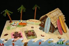 tropical gingerbread house