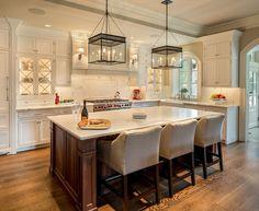 Kitchen. Great Kitchen Design. #Kitchen #KitchenDesign #KitchenIdeas #HomeDecor #Interiors #Countertop is Calacatta Oro #marble