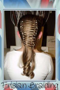 #laddervlecht met #krullen #ladderbraid with #curls