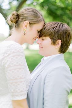 Kimberly & Joelle's intimate, DC courthouse wedding. Images by Love by Serena.