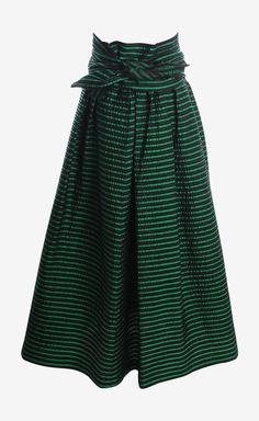 Balmain Green And Black Skirt