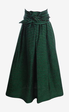 ohhh! black and green skirt
