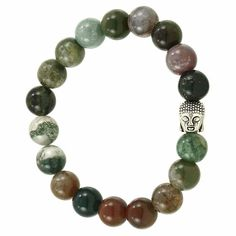 Beautiful Hand Strung Genuine Agate Beads. Each bracelet is hand strung and selected to give a beautiful selection of this stones natural beauty. Agate is beli