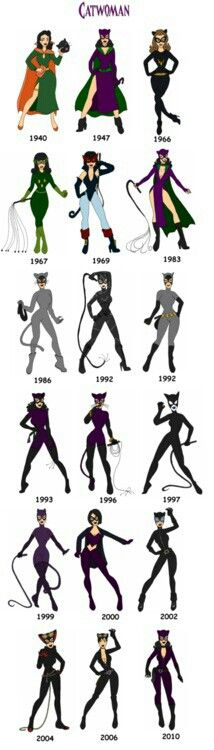 Cat Woman -- The later designs are definitely the best imo