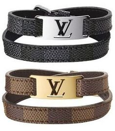 Life is too Short to do Without: Louis Vuitton Mens Sign It Bracelets
