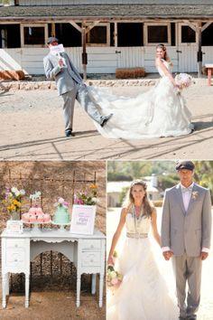 bride and groom attire - vintage