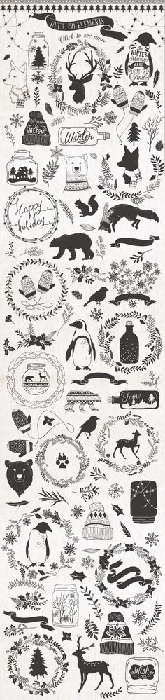 Pretty little Christmas illustrations