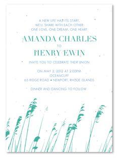 Beach Wedding Invitations ~ Rhode Islands Reeds