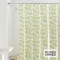 Mainstay Fiji Leaves PEVA Shower Curtain