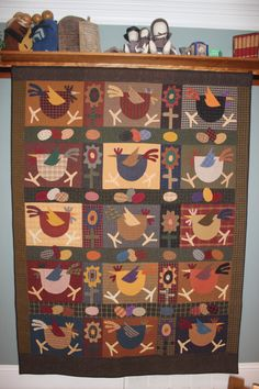 """""""Spring Chickens"""" by Meme's Quilts - by Ann Laemmlen Lewis"""