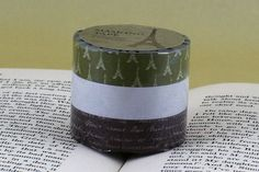 Eiffel+Tower+Handwriting+Japanese+Washi+Tape+GREEN/BROWN $8.25