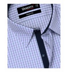 White With Multi Check Shirt