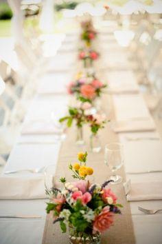 Pink-Yellow-Garden-Wedding-Centerpiece