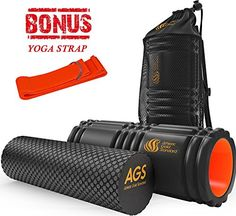 Athletic Gold Standard Foam Roller GRID For Muscle Massage FREE BONUS Yoga Strap * You can get additional details at the affiliate link Amazon.com.
