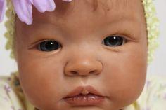 "Beautiful, Realistic Newborn Reborn doll ""Shyann"" sculpt by Aleina Peterson. $250.00, via Etsy."