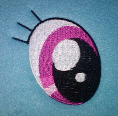 Rainbow Dash Eye Embroidery by ~EthePony on deviantART