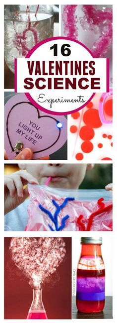 Check out this roundup of 16 Valentine themed science experiments! With fizzy, dancing, bubbling and hopping there is any exciting science project for everyone!