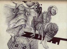 Detailed Surreal #Drawings by David Lopez #art #inspiration