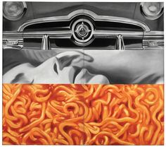 "James Rosenquist ""I Love you with my Ford"" - (1961) painting - oil on canavas"