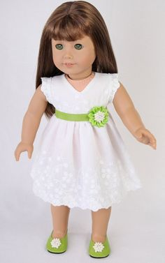 American Girl Doll Dress AG Doll Dress 18 inch by ModernDollWorld American Girl Doll Shoes, American Girl Dress, American Doll Clothes, Ag Doll Clothes, American Girls, Girl Dolls, Ag Dolls, Doll Toys, Doll Dress Patterns