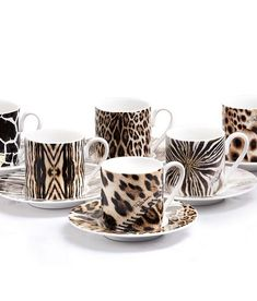 ROBERTO CAVALLI AFRICA: SET 6 PZ. TAZZA CAFFE' C/P/SET 6 PCS. COFFEE CUP & SAUCER - CYLINDRIC SHAPE - 0,1 L RCHPAF121: Pinned to Pinterest by Anna Winston from ALL THE THINGS THAT COULDN'T BE, a novel by American author M.L. Cady. #AT3CB