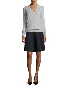 Igtios Mod Knit A-Line Skirt, Black, Women's, Size: MEDIUM - Theory