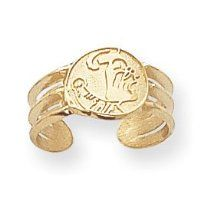 14k Collegiate Florida State Toe Ring - JewelryWeb