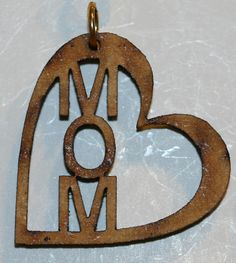 Mom pendant no chain with 1 inch wooden bead gold Buy and sell on www.buyerxpo.com Totally free!!!
