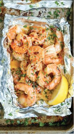 Shrimp Scampi from Damn Delicious - - Camping Menu, Camping Cooking, Camp Fire Cooking, Camping Dinner Ideas, Easy Camping Food, Camping Food Packing, Camping Kitchen, Backpacking Meals, Ultralight Backpacking