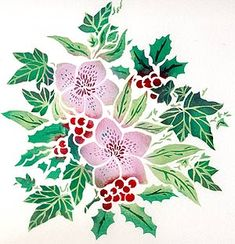 Botanical Stencils Hellebore Christmas Rose Stencil