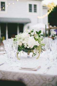 #centerpiece  Photography: onelove photography - onelove-photo.com  Read More: http://www.stylemepretty.com/2013/10/03/classic-backyard-wedding-from-onelove-photography/