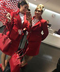 【イギリス】ヴァージン・アトランティック航空 客室乗務員 / Virgin Atlantic Airways cabin crew【UK】 Grace Perry, Airline Uniforms, Virgin Atlantic, Elegant Bridesmaid Dresses, Cabin Crew, Flight Attendant, Amy, Aviation, Europe