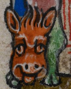 Detail from medieval manuscript, British Library Stowe MS 17 'The Maastricht Hours', f227v