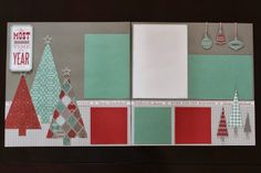 Love. Create. Celebrate. : Winter Scrapbooking - original Christmas layout using CTMH Sparkle & Shine paper.