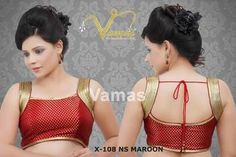 A gorgeous heart stopping sleeveless pattern which can add beauty to any of your saree or lahenga. The armhole is completely filled with golden shiny laces Material : Brocade Aerial Costume, Lahenga, Saree Blouse, Blouse Designs, Two Piece Skirt Set, Costumes, Crop Tops, Lace, Google Search