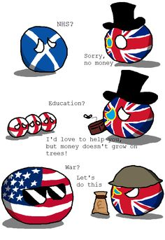Wise Spending ( UK, USA ) by Glitchy Shadow 137   #polandball #countryball