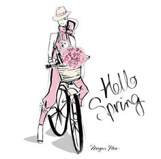 Megan Hess - HELLO SPRING! Be Inspirational ❥|Mz. Manerz: Being well dressed is a beautiful form of confidence, happiness & politeness