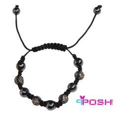 Shamballa Pewter - Bracelet Product Number: PO-B4840 Hematite and Pewter crystal bead bracelet.  $18.00 cdn Crystal Beads, Crystals, Pewter, Luxury Fashion, June, Fashion Jewelry, Product Launch, Beaded Bracelets, Number
