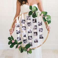 Make This Floral Photo Hoop for Your Wedding via Brit + Co.