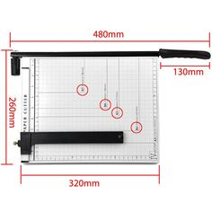 Popamazing Professional Heavy Duty A4 High Quality Paper Cutter Guillotine Metal Based Trimmer: Amazon.co.uk: Office Products