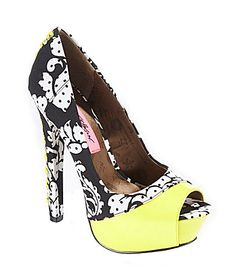 Betsey Johnson Vollume Pumps #Dillards http://www.dillards.com/product/Betsey-Johnson-Vollume-Pumps_301_-1_301_503162828?df=03778642_zi_black_white