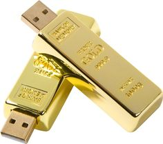gold bar usb drive. awesome!