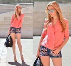 Asos Sandals, Zara Blouse {cute look, love the color}
