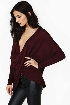 Nasty Gal | Soft Curve Knit - Oxblood