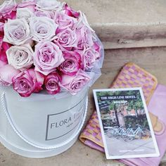 A flower does not think of competing with the flower next to it. It just blooms 🌸🌸🌸 #flowerpower #pastelroses #purpleroses #flowerbox #floratheory #nycflowers