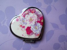 Polymer Clay Image Transfer Heart Shaped Pocket by NKDesigns