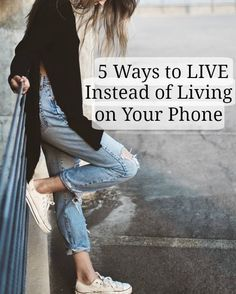Feel like you're addicted to your phone? It's a real thing in this day and age! Check out my 5 tips on how to spend less time living on your phone!